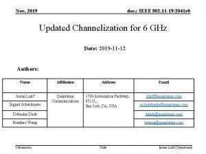 Nov 2019 doc IEEE 802 11 192041 r