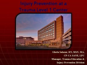 Injury Prevention at a Trauma Level 1 Center