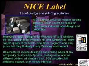 NICE Label design and printing software NICE Label