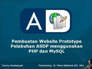 Pembuatan Website Prototype Pelabuhan ASDP menggunakan PHP dan