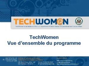 Tech Women Vue densemble du programme A propos