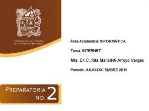 rea Acadmica INFORMTICA Tema INTERNET Mta En C