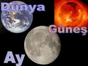 Dnya Gne ve Ay sonsuz uzay iersinde bizim