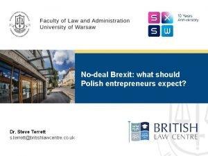Nodeal Brexit what should Polish entrepreneurs expect Dr
