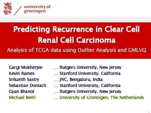 Predicting Recurrence in Clear Cell Renal Cell Carcinoma