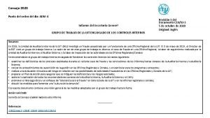 Consejo 2020 Punto del orden del da ADM