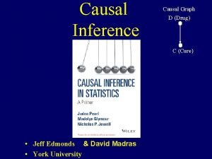Causal Inference Causal Graph D Drug C Cure