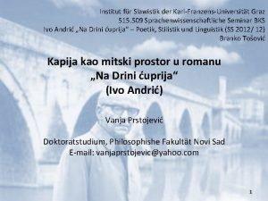 Institut fr Slawistik der KarlFranzensUniversitt Graz 515 509