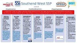 Southend West SSP week 8 Stay In Work