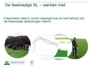 De feedwedge NL werken met Presentatie waarin wordt