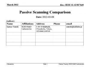 March 2012 doc IEEE 11 120276 r 0