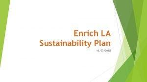 Enrich LA Sustainability Plan 10232018 Index 1 Micheltorena