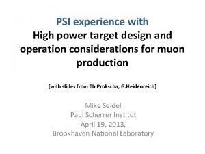 PSI experience with High power target design and