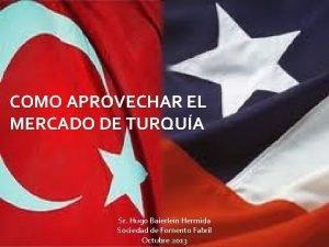 COMO APROVECHAR EL MERCADO DE TURQUA Sr Hugo