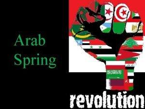 Arab Spring The Arab Spring or the Arab