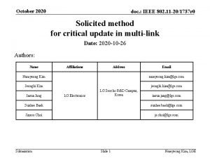 October 2020 doc IEEE 802 11 201737 r
