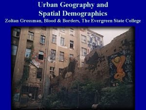 Urban Geography and Spatial Demographics Zoltan Grossman Blood