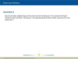 American History World War II Germany invades neighboring