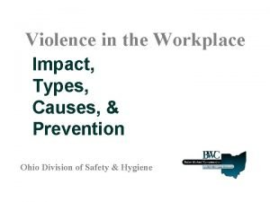 Violence in the Workplace Impact Types Causes Prevention