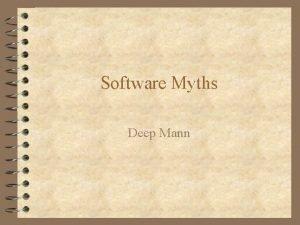 Software Myths Deep Mann Management myths 4 Managers