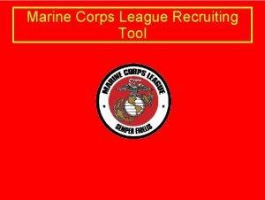 Marine Corps League Recruiting Tool Marine Corps League