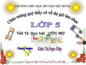 TRNG TIU HC TH VIT HNG Tit 12