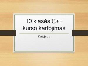 10 klass C kurso kartojimas Kartojimas 5 pamokos