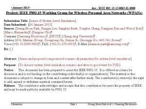 January 2013 doc IEEE 802 15 13 0065