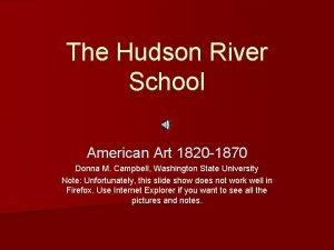 The Hudson River School American Art 1820 1870