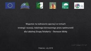 Wsparcie na wdraanie operacji w ramach strategii rozwoju