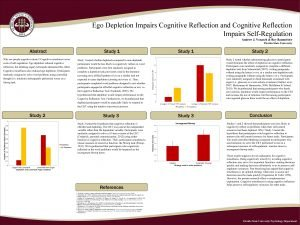 Ego Depletion Impairs Cognitive Reflection and Cognitive Reflection