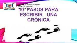 Universidad de Santiago de Chile Escuela de Periodismo