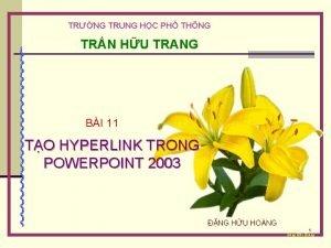 TRNG TRUNG HC PH THNG TRN HU TRANG