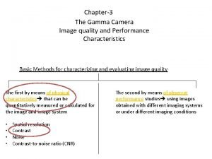 Chapter3 The Gamma Camera Image quality and Performance