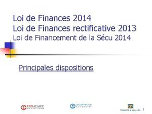 Loi de Finances 2014 Loi de Finances rectificative