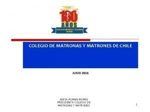 COLEGIO DE MATRONAS Y MATRONES DE CHILE JUNIO