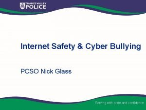 Internet Safety Cyber Bullying PCSO Nick Glass Serving