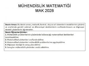 MHENDSLK MATEMAT MAK 2028 S C Chapra and