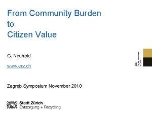 G Neuhold www erz ch Zagreb Symposium November