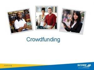 Crowdfunding National Workshop Resource Presentation Title General Crowdfunding