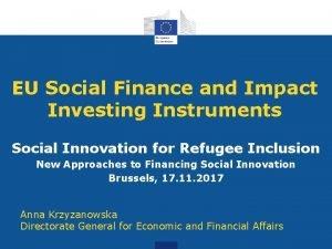 EU Social Finance and Impact Investing Instruments Social