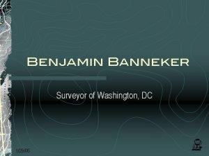 Benjamin Banneker Surveyor of Washington DC 12906 Benjamin