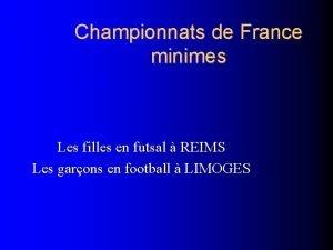 Championnats de France minimes Les filles en futsal