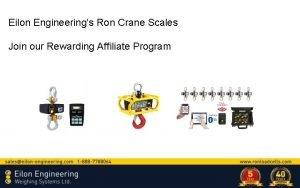 Eilon Engineerings Ron Crane Scales Join our Rewarding