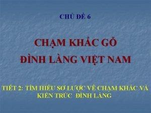 CH 6 CHM KHC G NH LNG VIT