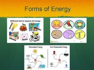 Forms of Energy 5 Fundamental Forms of Energy