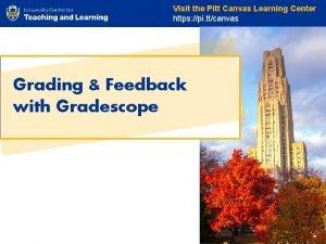 Visit the Pitt Canvas Learning Center https pi