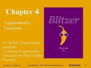 Chapter 4 Trigonometric Functions 4 7 Inverse Trigonometric
