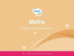Maths Addition and Subtraction Year One Maths Year