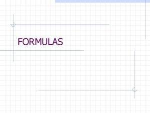 FORMULAS Definitions Area PerimeterCircumference Surface Area Volume Distance